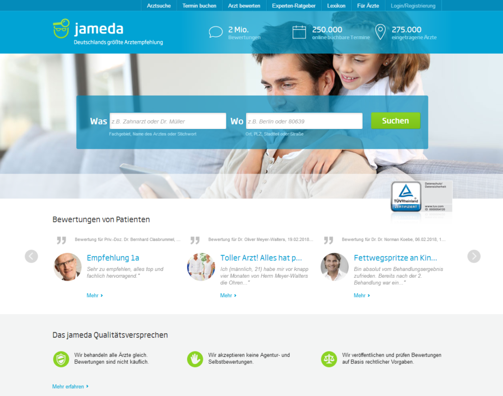 jameda screenshot