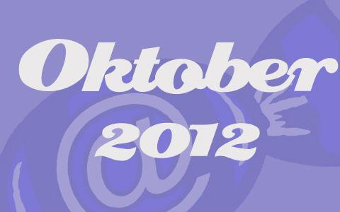 """Fliederfarbene Transparenz vor dem Social Media Konzepte Bonbon. Davor in weiß die Worte """"Oktober 2012""""."""