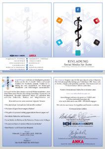 Social Media für Ärzte Einladungskarte