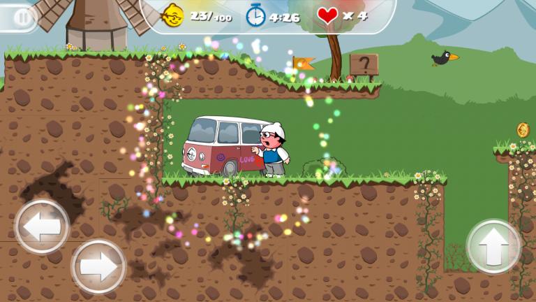 Screenshot eines Spiels mit den Mainzelmännchen.