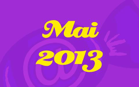 """Lilane Transparenz vor Social Media Konzepte Bonbon. Davor in gelber Schrift die Worte """"Mai 2013"""""""