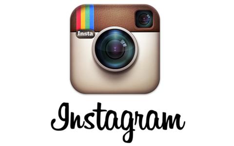 """Das Logo von Instagram mit dem Untertitel """"Instagram""""."""