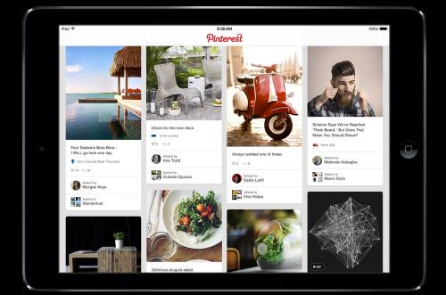 Pinterest auf einem iPad.