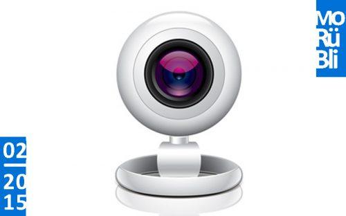 Eine weiße Webcam.