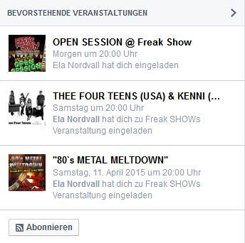 Facebook-Events abonnieren