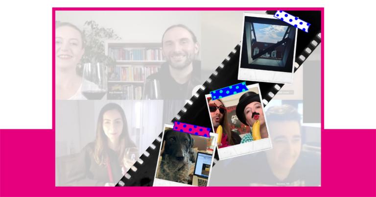 Eine Fotomontage von Momenten aus dem vergangenen Jahr im Home-Office.