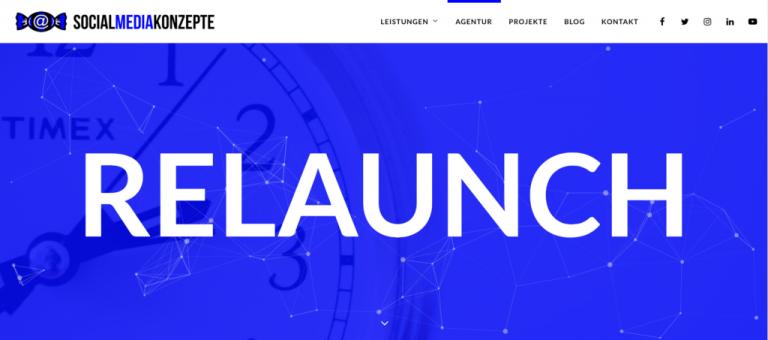 Social Media Konzepte Website Relaunch Agentur