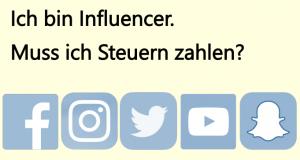 Influencer Steuern